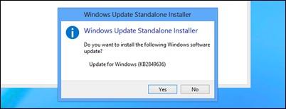 Instalador de la actualización
