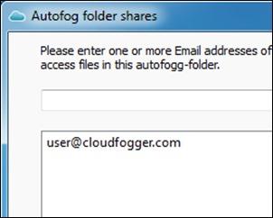 的CloudFogger ShareFolder