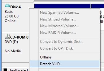VHD откачите-