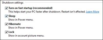 shutdown-innstillinger