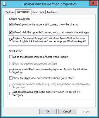 taskbar-Propriétés