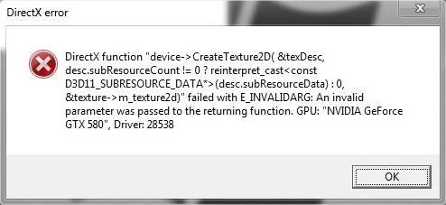 directx-error