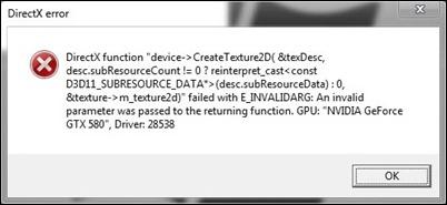 DirectX的错误