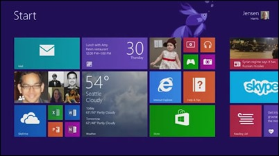 windows8.1-start ekranı