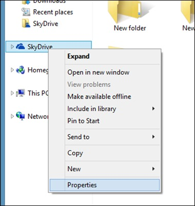 SkyDrive-context-menu
