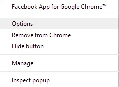 fb-chrome-Optionen