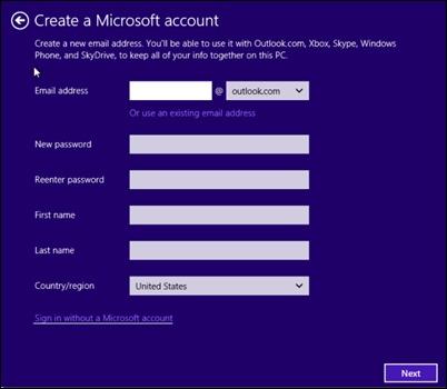 登錄沒有微軟的賬戶