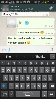 WhatsApp-messagerie vocale