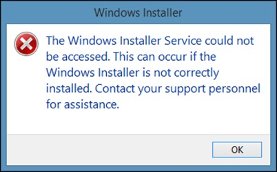 Windows Installer napaka