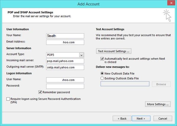 كيف يمكننا تحديد POP3 أو IMAP لبريد ياهو في Outlook ...