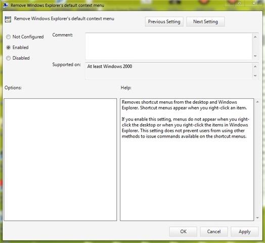 Comment d sactiver et r activer le menu du clic droit for Fenetre explorateur windows 7