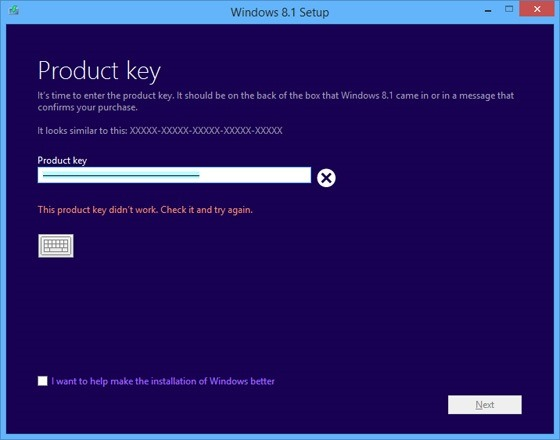 код для установки windows 8.1