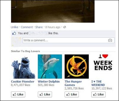 फेसबुक recomandation