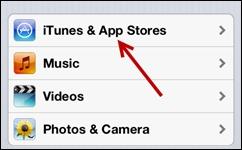 iOS nastavení