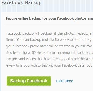 iDrive-Facebook-Backup