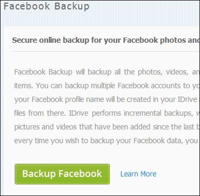 iDrive-Facebook-Backup