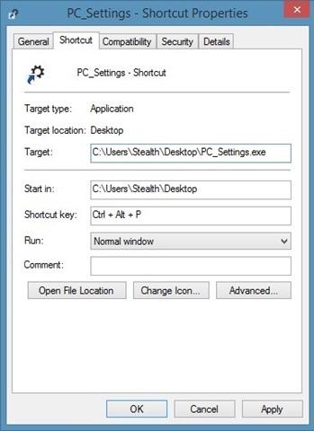 Създаване-PCSettings-keyboard-коротка