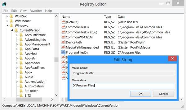 ad32ce3e Hvordan kan vi endre standardinstallasjonsstedet for Windows ...
