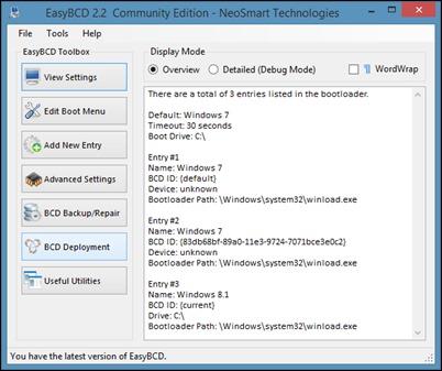 BCD dağıtım EasyBCD