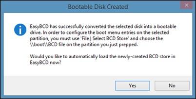 Express Burn bootfähige Diskette