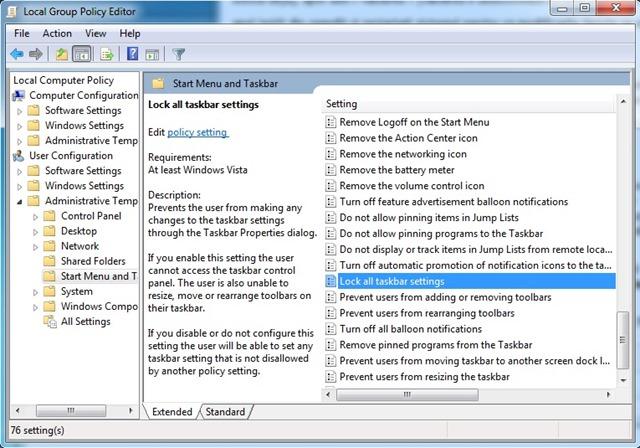 gpedit-taskbar-settings