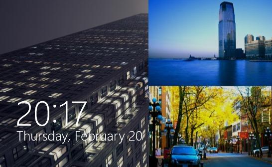 windows-8.1-lukustatav ekraan, slaidiseanss