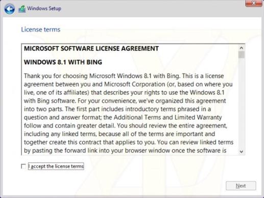 windows-8.1- 빙 포함