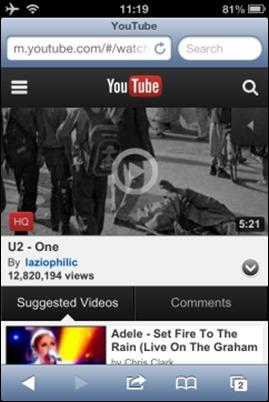 يوتيوب على اساس السفاري