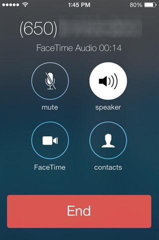 FaceTimeのオーディオ-ios7
