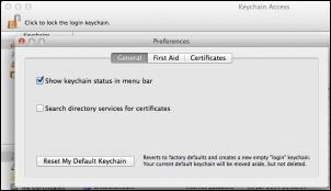 Keychain-предпочитания