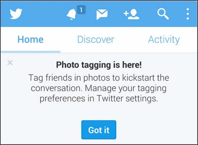 Twitter的照片貼標籤