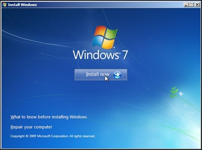 7-instalar o Windows