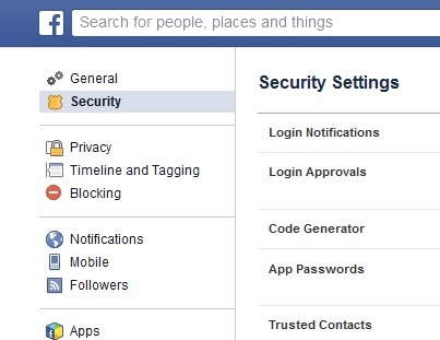 facebook-sikkerhed-settings