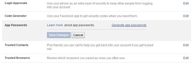 app-genererede adgangskoder