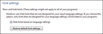 恢复默认字体 - 设置