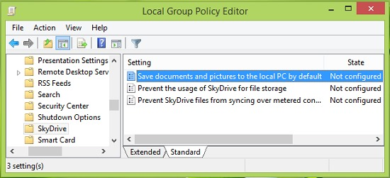 Shrani-fileso bili lokalno windows-8.1