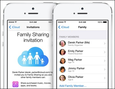 Familien-Sharing ios8