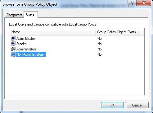 izberite uporabniki-za-skupini politik predmeta