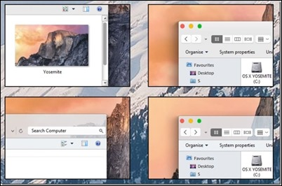 OS-X-Yosemite-theme-vizuális-style-for Windows Windows 7 8.1