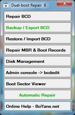 dual-boot reparation