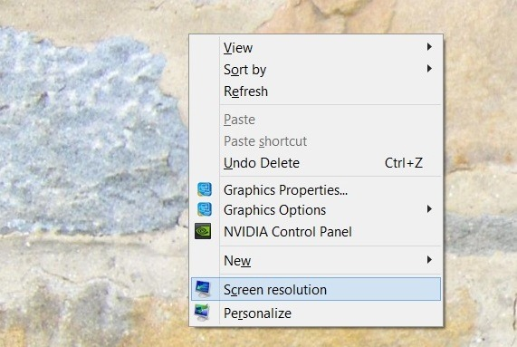 otvorena rezolucija zaslona-windows8.1
