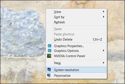 Открытый экран разрешением-windows8.1