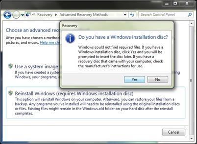 réinstaller-windows-options