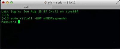 复位 -  DNS缓存 -  OSX