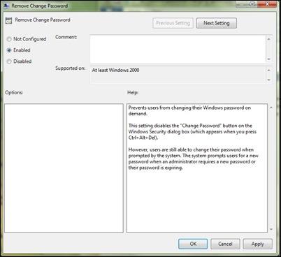限制密碼改變,gpedit2