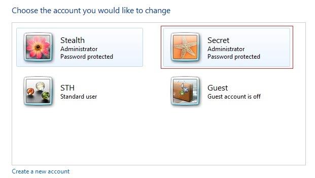 secret-user-account