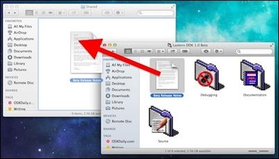 dele filer mellom-mac-bruker-kontoer