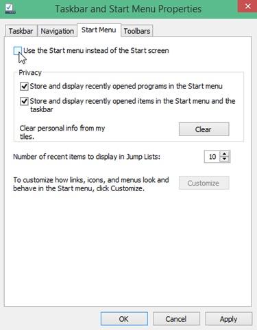 disable-start-menu-windows-10
