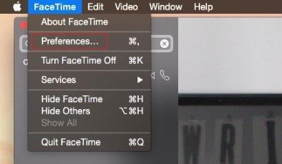 faceTime-preferences
