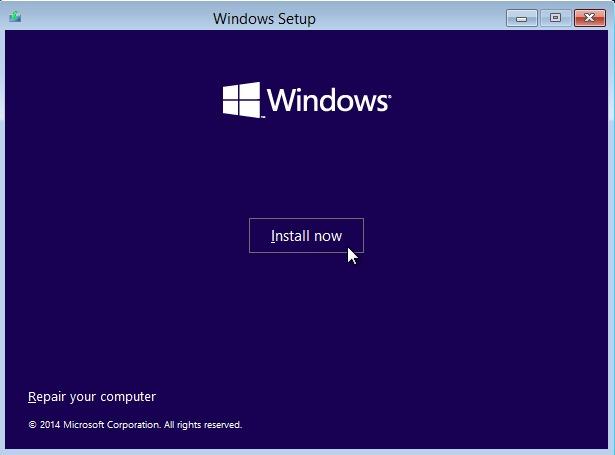 install-windows10 ดูอัลบูต